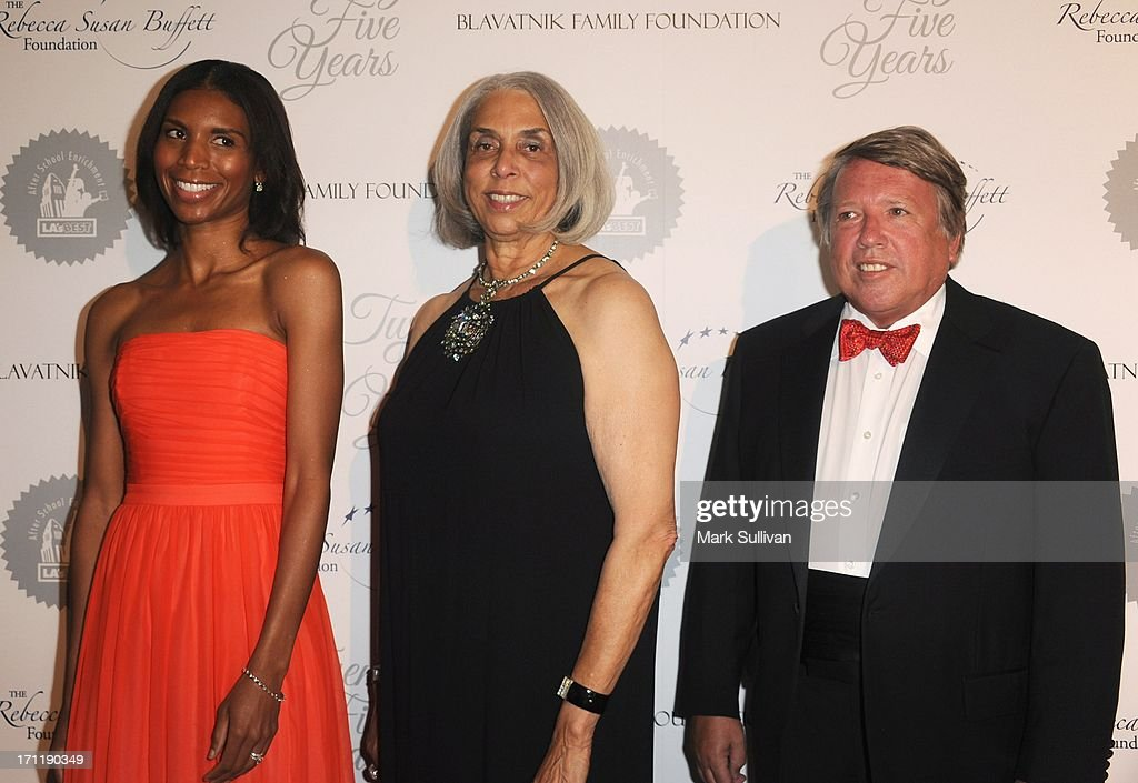 Friends Chairwoman Amber Holley Melius, LA's Best Advisory Board Chairwoman Alice Desobry Bowens and LA's Best Chairman Marvin Suomi attend LA's Best 25th Anniversary Gala at The Beverly Hilton Hotel on June 22, 2013 in Beverly Hills, California.