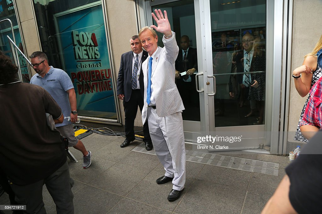 'FOX & Friends' co-host Steve Doocy is seen backstage during the 'FOX & Friends' All American Concert Series outside of FOX Studios on May 27, 2016 in New York City.