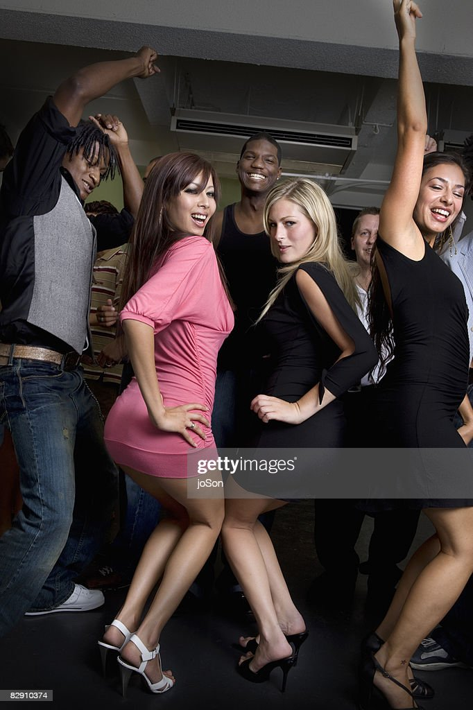 Friends dancing at a party : Stock-Foto