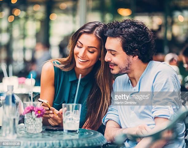 Friends drinking cocktails together