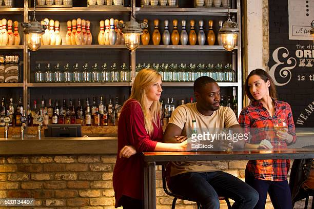 Friends drinking in a Bar