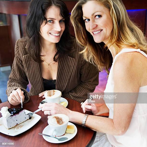 Friends Eating Dessert