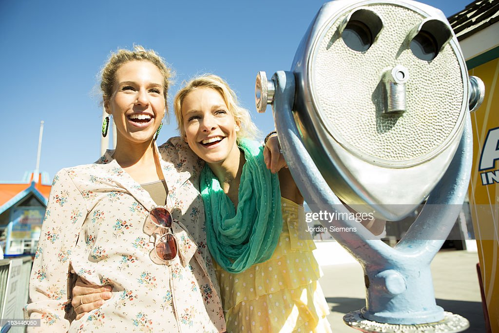Friends enjoying a day at the Carnival. : Stock Photo