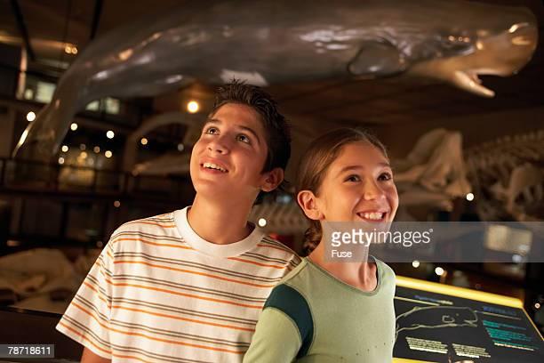 Friends Enjoying a Museum