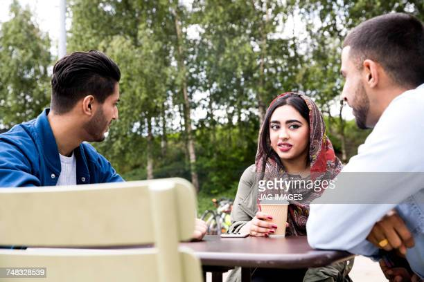 Friends enjoying coffee together