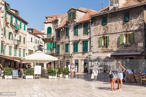 Friends exploring the Old town, Split, Croatia