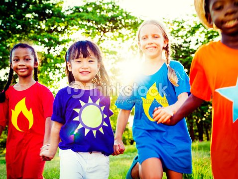 Friends Friendship Childhood Happiness Unity Concept Stock Photo