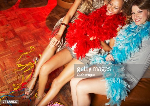 Friends hanging out at a club : Stock Photo