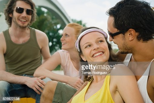 Friends Hanging Out : Stock Photo
