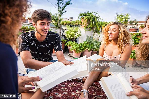 Friends have a public reading together