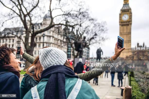 Friends having a blast in London