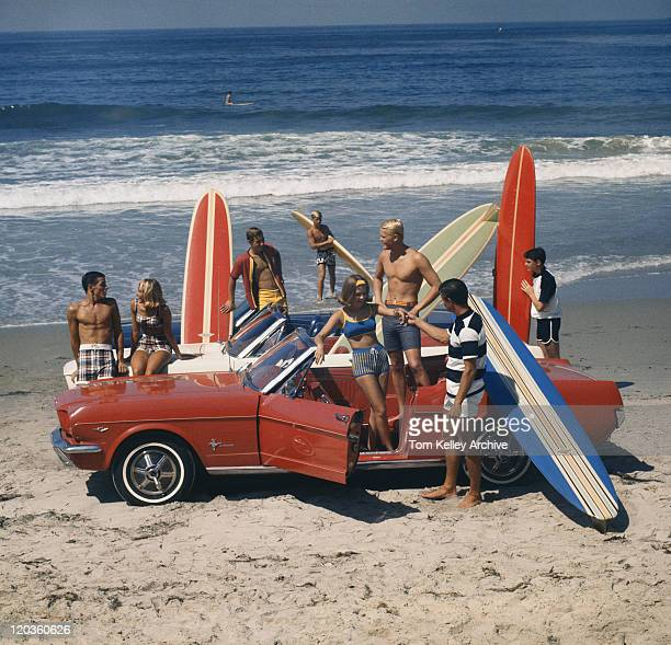 Friends having fun on beach