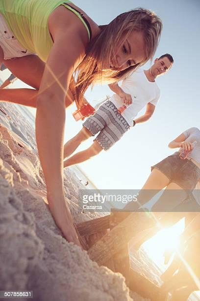Freunde, Spaß am Strand