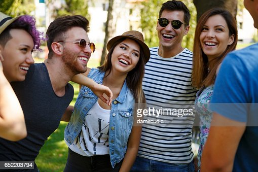 Friends having fun outdoor : Foto stock