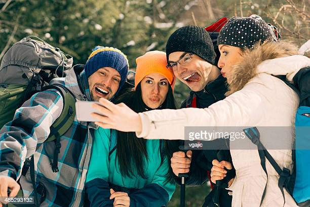 Amis de randonnée Selfie.