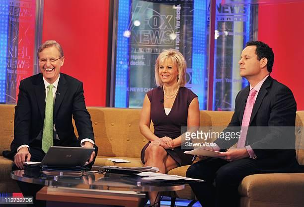 FOX Friends hosts Steve Doocy Gretchen Carlson and Brian Kilmeade at FOX Friends FOX Studios on April 20 2011 in New York City