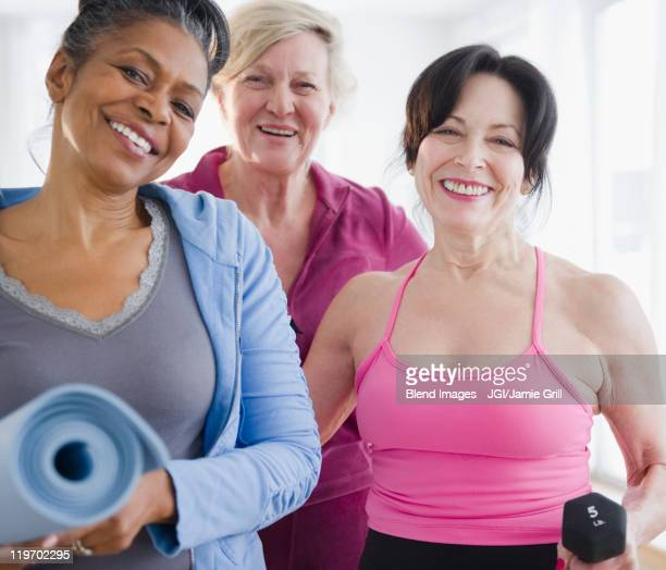 Friends in exercise class