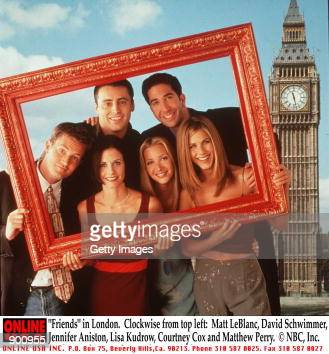'Friends' in London Clockwise from top left Matt LeBlanc David Schwimmer Jennifer Aniston Lisa Kudrow Courteney Cox and Matthew Perry