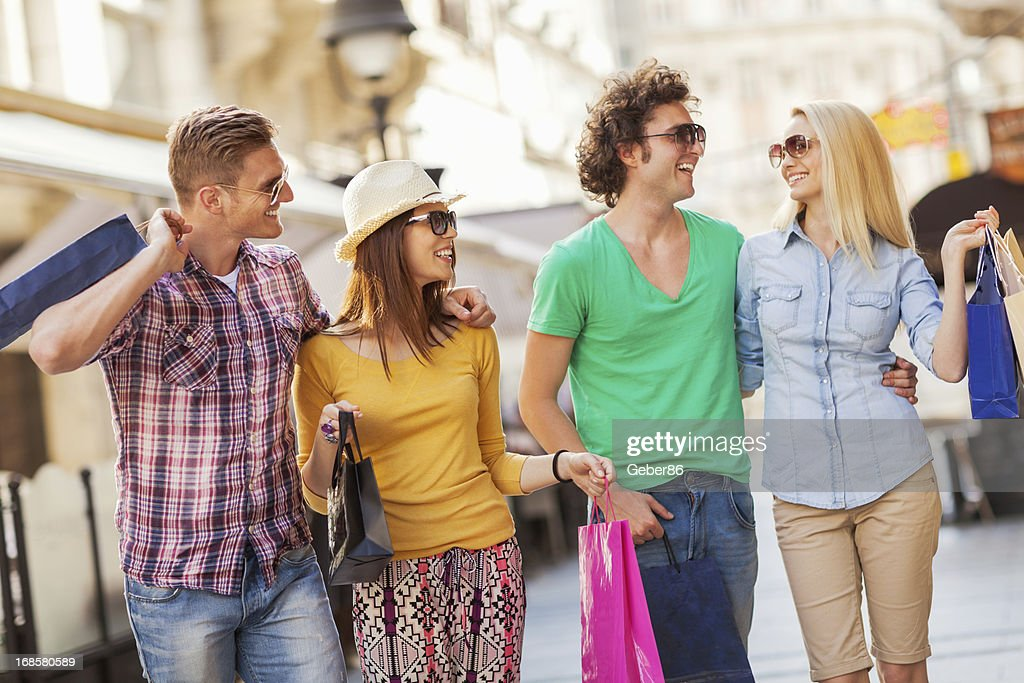 Friends in shopping : Stock Photo