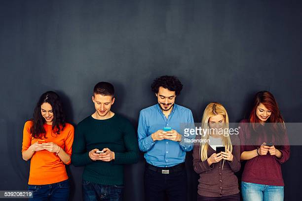 Amigos en concepto de red Social