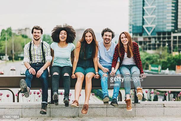 Amis dans la ville