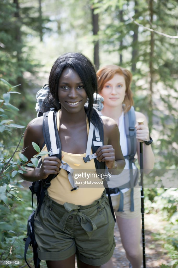 friends in the woods : Stock Photo