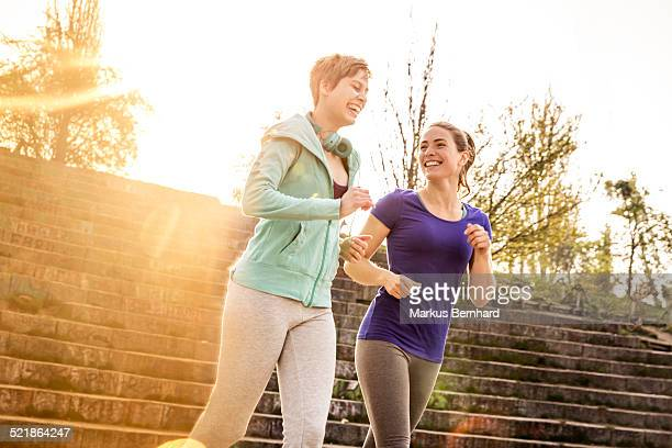 Friends jogging in the morning