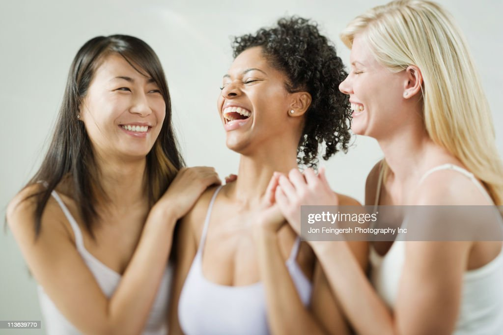 Friends laughing together : Stock Photo