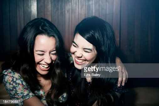 Friends laughing together