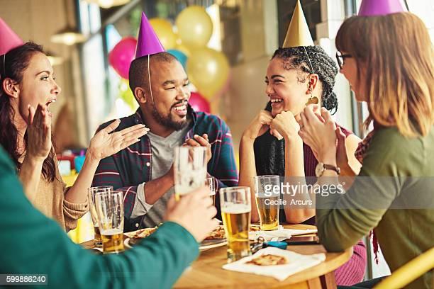 Friends never let friends celebrate alone
