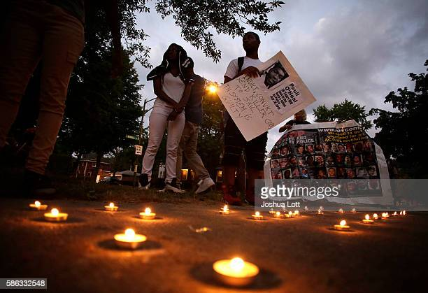 Friends of Paul O'Neal attend a vigil to remember him August 5 2016 in Chicago Illinois O'Neal an unarmed 18yearold man was shot and fatally wounded...