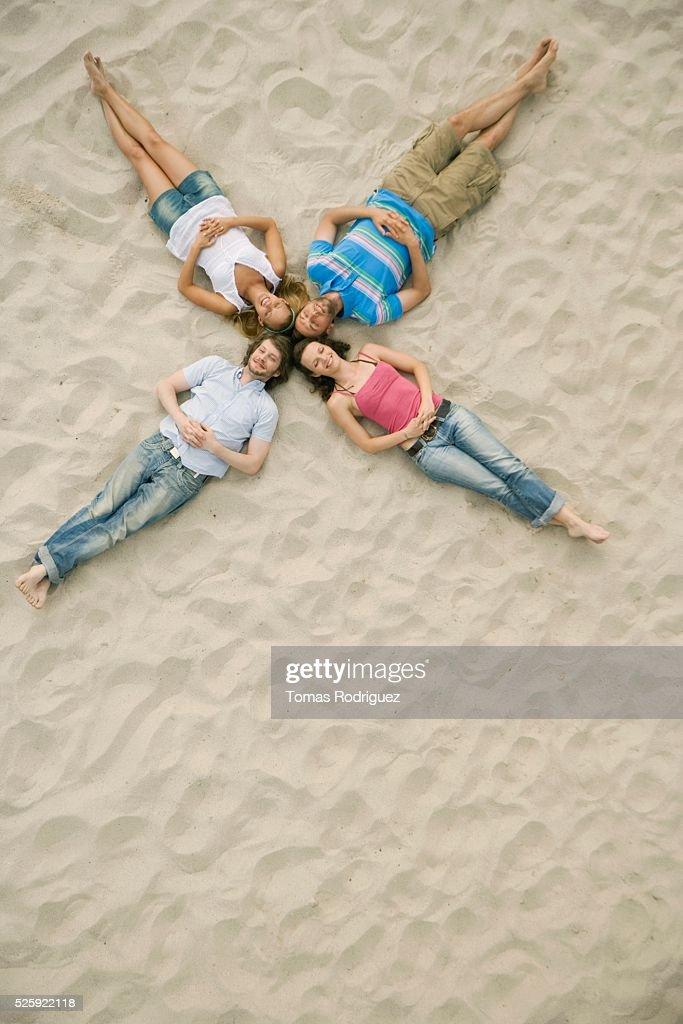 Friends on a Beach : Stock Photo