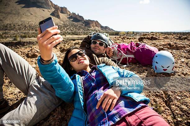 Friends on a hiking trip.