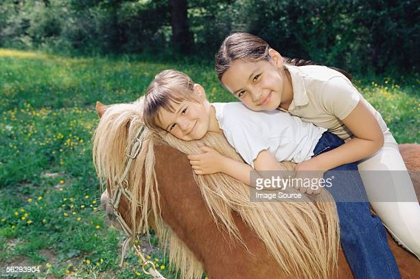 Friends on a horse
