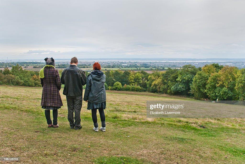 Friends on hills : Stock Photo