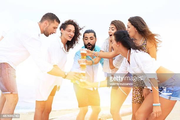 ご友人とご一緒にビーチ