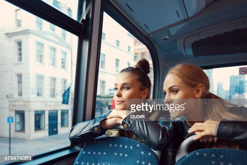 Friends on the public bus