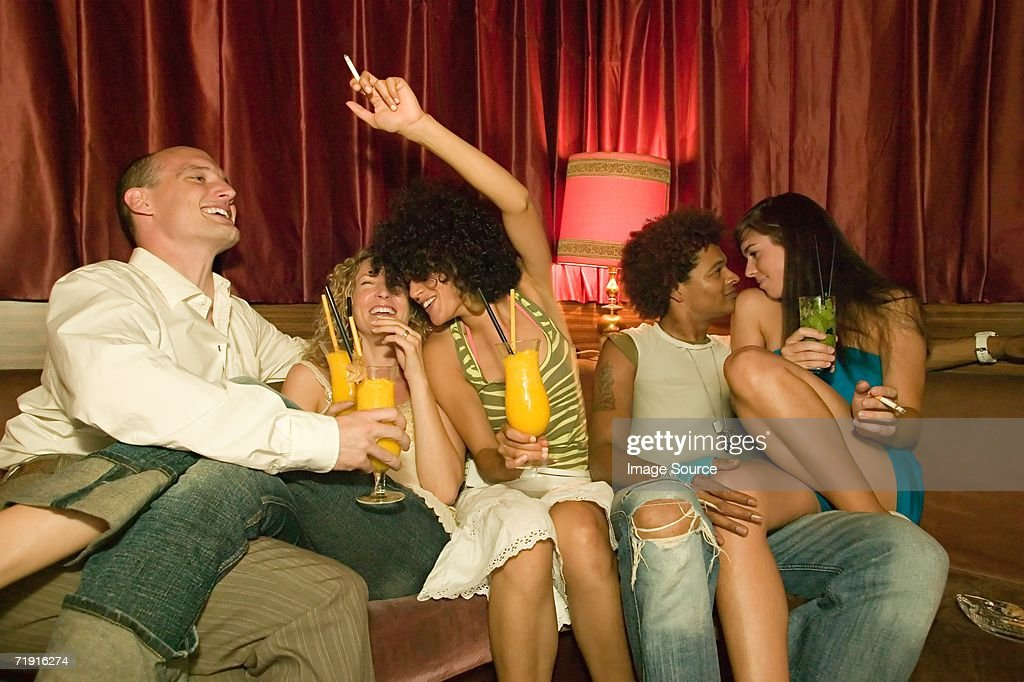 Friends partying : Stock Photo
