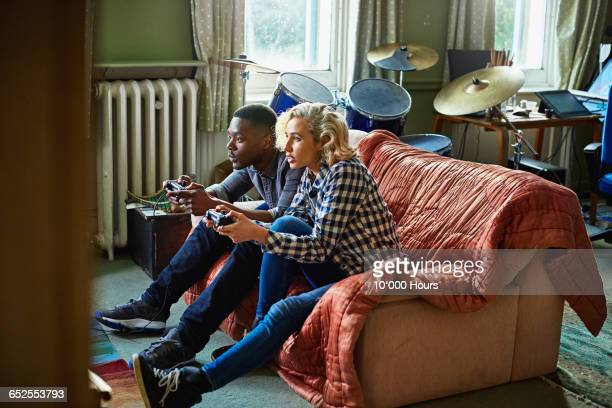 Friends play games console