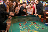 Friends Playing Craps