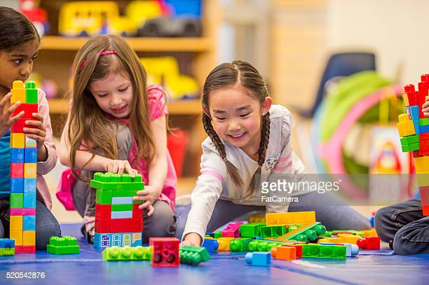 Friends Playing Together in Class