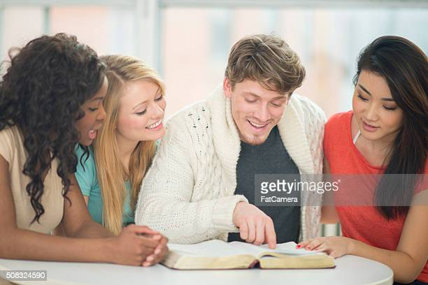 Friends Reading the Bible Together
