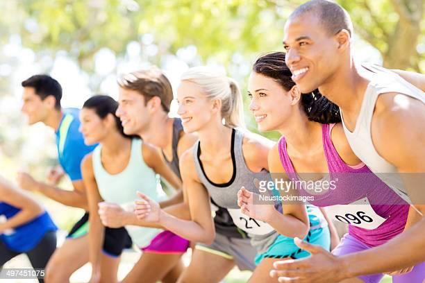 Freunde Laufen In der Marathon