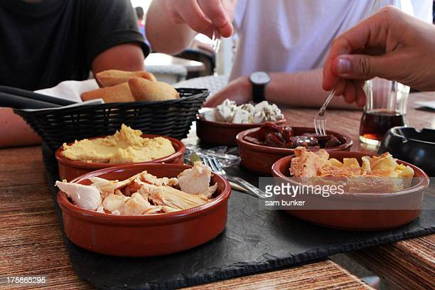 Friends sharing tapas