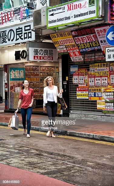 Friends shopping in Hong Kong