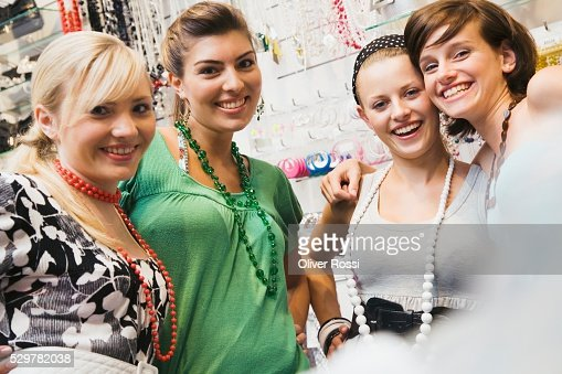 Friends shopping : Stock Photo