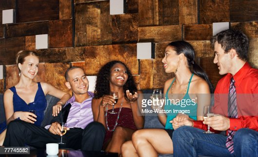 Friends Socializing : Stock Photo