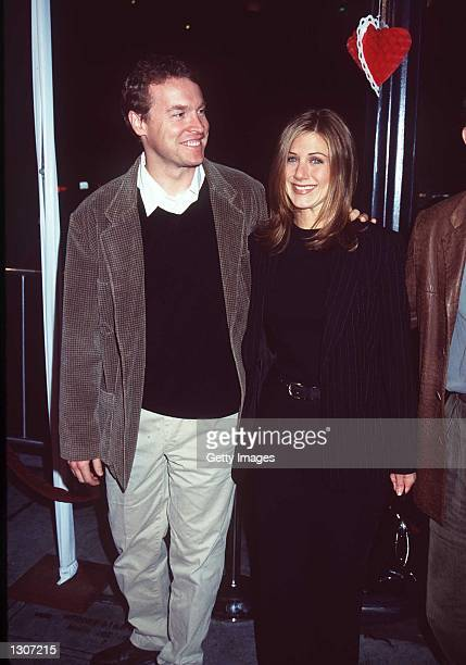 Friends star Jennifer Aniston right and Tate Donovon at the Premiere of 'FOOLS RUSH IN' in Santa Monica California February 10 1997 On July 27 it has...