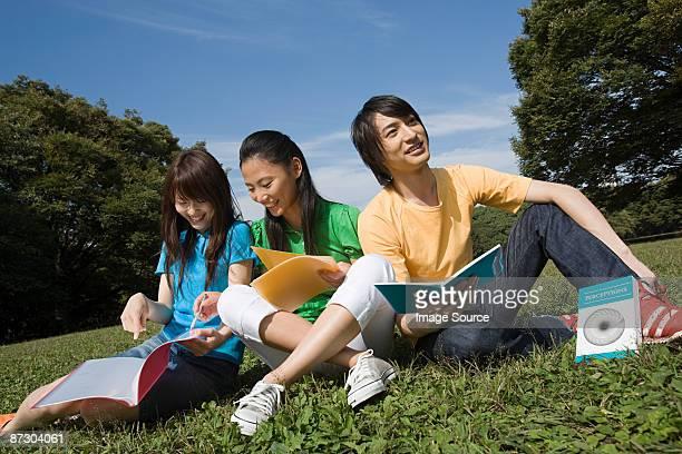 Freunde Studium im park