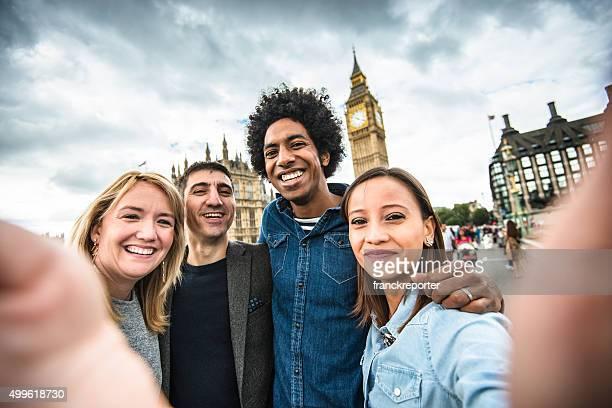 friends take a selfie in london - big ben